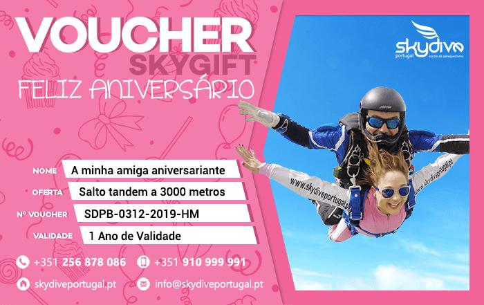 Voucher Aniversario Rosa Skydive