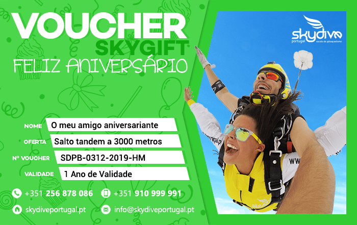 Voucher Aniversario Skydive