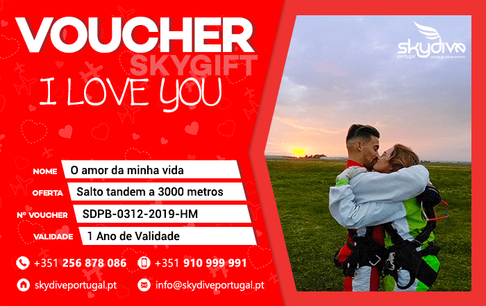 Voucher I Love You Skydive