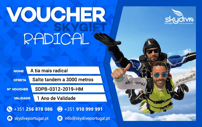 Voucher Radical Azul Skydive