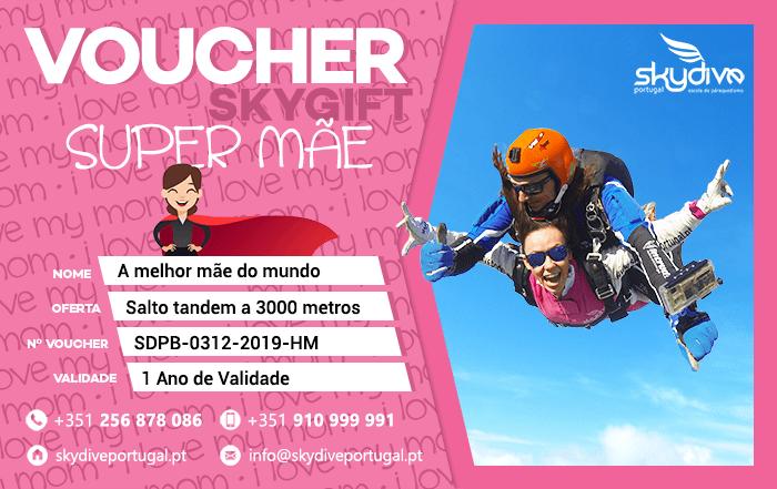 Voucher Super Mãe Skydive